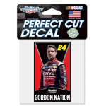 "Fanatics Jeff Gordon WinCraft 4"" x 4"" Perfect Cut Decal"