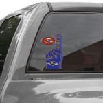 Fanatics Baltimore Ravens 4'' x 9'' Ultra Decal Clings Sticker Sheet