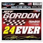 "Fanatics Jeff Gordon WinCraft 4.5"" x 6"" 24EVER Multi-Use Decal"