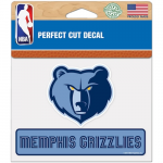 "Fanatics Memphis Grizzlies WinCraft 4"" x 5"" Perfect Cut Decal"