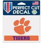 "Fanatics Clemson Tigers WinCraft 4"" x 5"" Perfect Cut Decal"