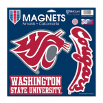 "Fanatics Washington State Cougars WinCraft 11"" x 11"" 3-Pack Car Magnet Set"