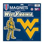 "Fanatics West Virginia Mountaineers WinCraft 11"" x 11"" 3-Pack Car Magnet Set"