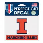 "Fanatics Illinois Fighting Illini WinCraft 4"" x 5"" Marching Illini Perfect Cut Decal"