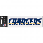 "Fanatics Los Angeles Chargers WinCraft 3"" x 10"" Team Name Perfect Cut Decal"