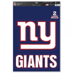 "Fanatics New York Giants WinCraft Name & Logo 11"" x 17"" Multi-Use Decal Sheet"