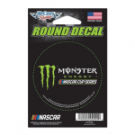 """Fanatics WinCraft Monster Energy NASCAR Cup Series 3"""" Round Decal"""