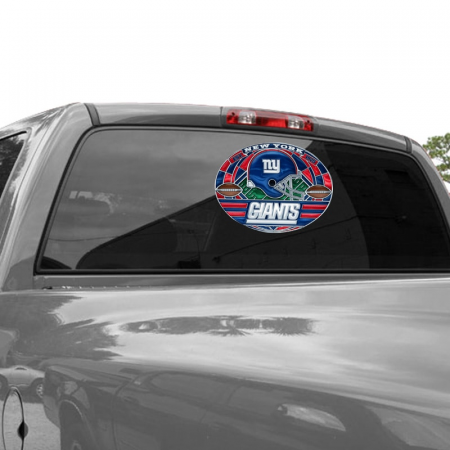 New York Giants WinCraft 11'' X 17'' Stained Glass Decal Sheet ...