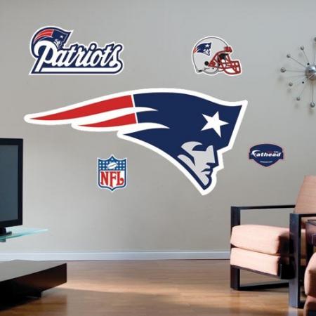 New England Patriots Team Logo Fathead Wall Sticker