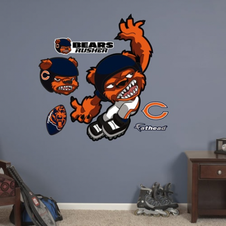 Fathead Chicago Bears NFL Rush Zone Wall Decal Set