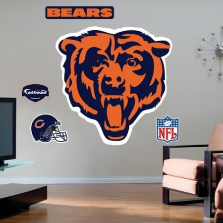 Chicago Bears Team Logo Fathead Wall Sticker