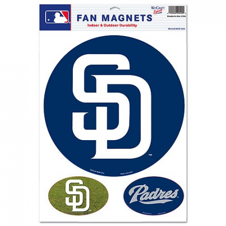 San Diego Padres WinCraft Fan Car Magnet - Navy/White