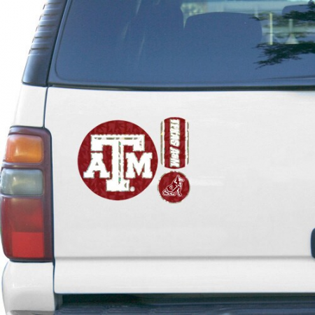 Texas A&M Aggies 11'' x 11'' Prismatic Car Magnet