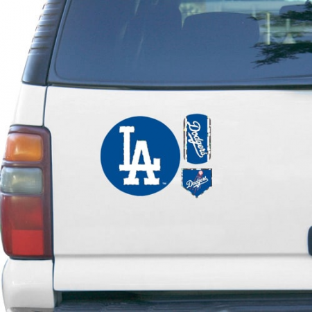 Los Angeles Dodgers 11'' x 11'' Prismatic Car Magnet