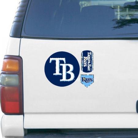 Tampa Bay Rays 11'' x 11'' Prismatic Car Magnet
