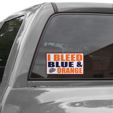 UTEP Miners 6'' x 12'' I Bleed Blue & Orange Car Decal