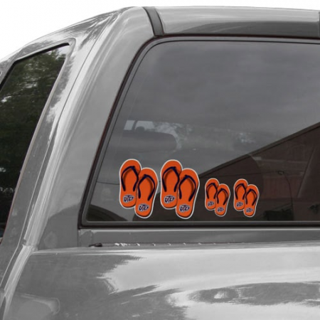 UTEP Miners Flip Flop Family Car Decals