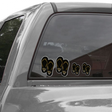 Wake Forest Demon Deacons Flip Flop Family Car Decals