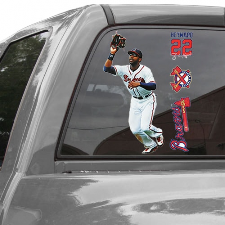 WinCraft Jason Heyward Atlanta Braves 11'' x 17'' Ultra Decal Player Window Clings Sheet