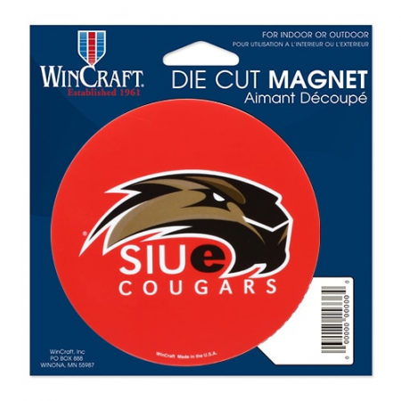 Southern Illinois Edwardsville Cougars 4'' Tier Circle Car Magnet