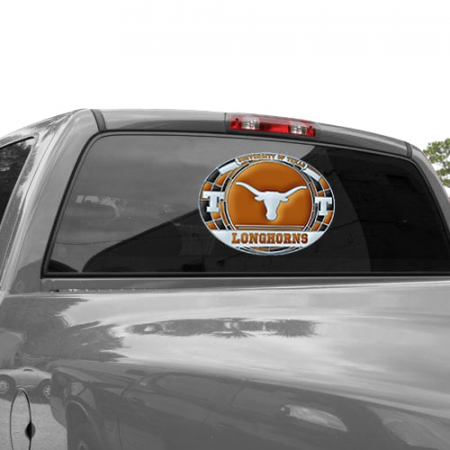 Texas Longhorns WinCraft 11'' x 17'' Stained Glass Decal Sheet