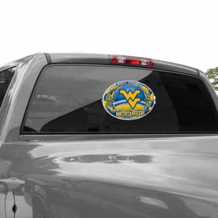 West Virginia Mountaineers WinCraft 11'' x 17'' Stained Glass Decal Sheet