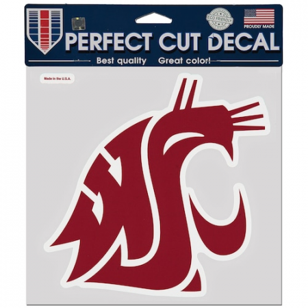 Washington State Cougars WinCraft 8'' x 8'' Color Car Decal