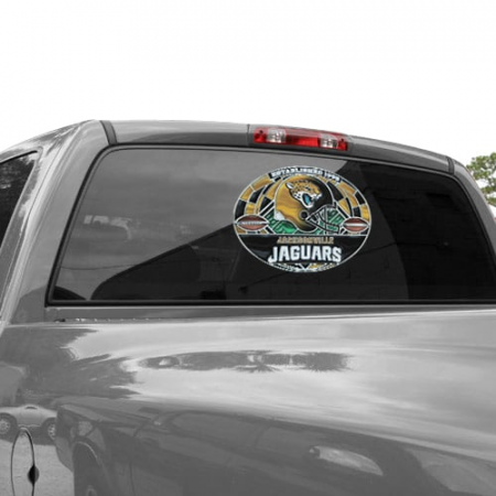 Jacksonville Jaguars WinCraft 11'' x 17'' Stained Glass Decal Sheet