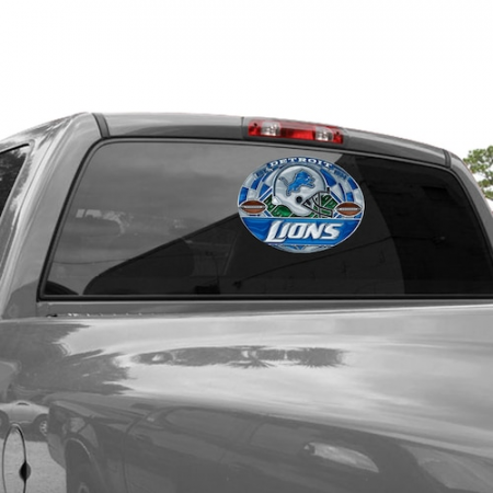 Detroit Lions WinCraft 11'' x 17'' Stained Glass Decal Sheet