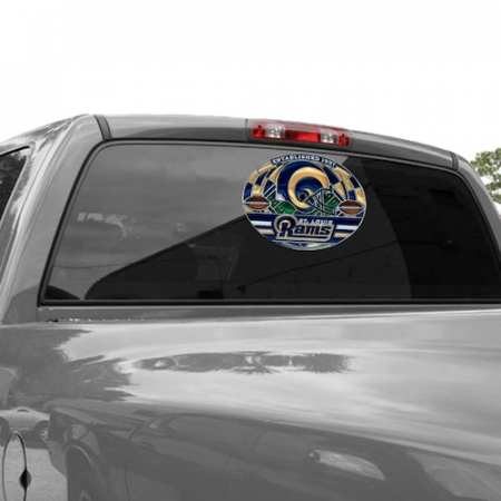 Classic St. Louis Rams WinCraft 11'' x 17'' Stained Glass Decal Sheet