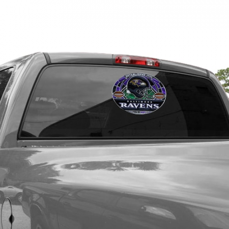 Baltimore Ravens WinCraft 11'' x 17'' Stained Glass Decal Sheet
