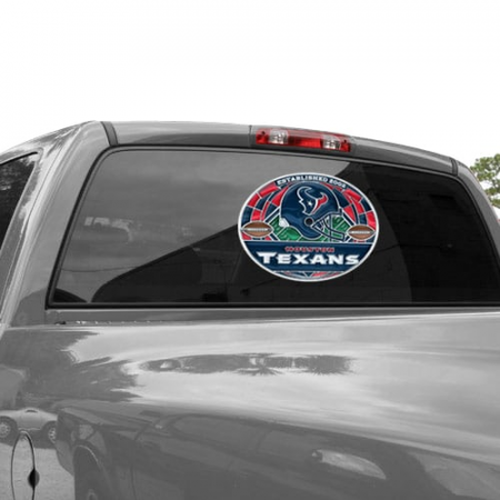 Houston Texans WinCraft 11'' x 17'' Stained Glass Decal Sheet