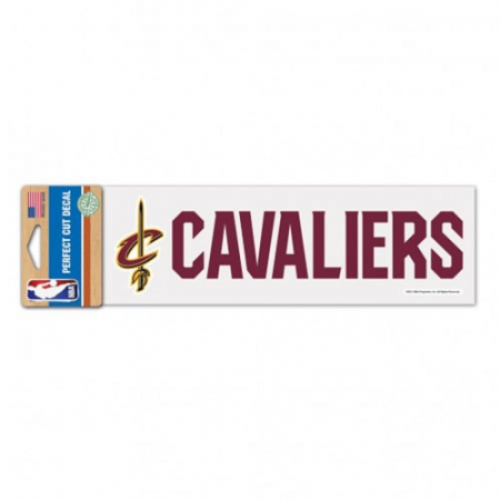 """Cleveland Cavaliers WinCraft 3"""" x 10"""" Logo & Name Perfect Cut Decal"""