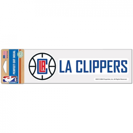 "LA Clippers WinCraft 3"" x 10"" Logo & Name Perfect Cut Decal"