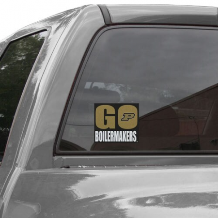 Purdue Boilermakers 5'' x 6'' Go Boilermakers Decal