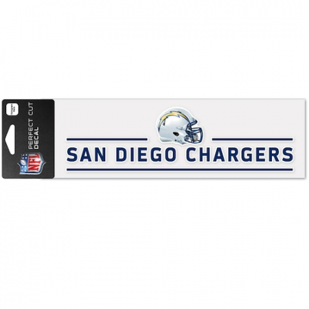 """San Diego Chargers WinCraft 3"""" x 10"""" Helmet Perfect Cut Decal"""
