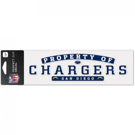 "San Diego Chargers WinCraft 3"" x 10"" Property Of Perfect Cut Decal"