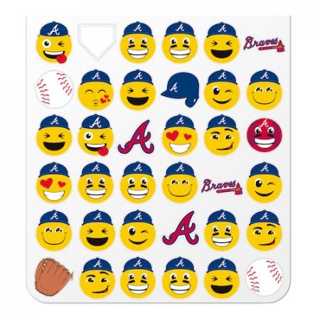 Atlanta Braves Teamoji Sticker Sheet
