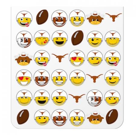 Texas Longhorns Teamoji Sticker Sheet