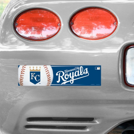 WinCraft Kansas City Royals 12'' x 3'' Primary Bumper Sticker