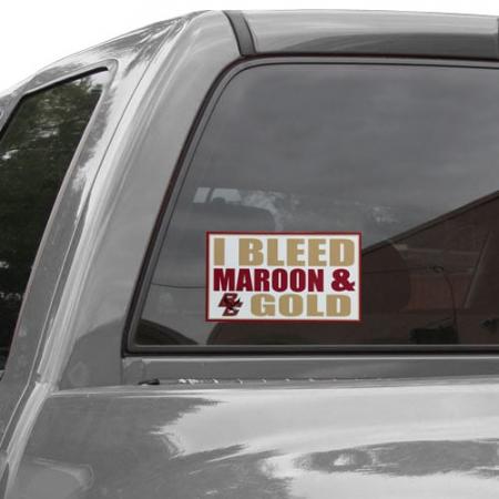 Boston College Eagles 6'' x 12'' I Bleed Maroon & Gold Car Decal