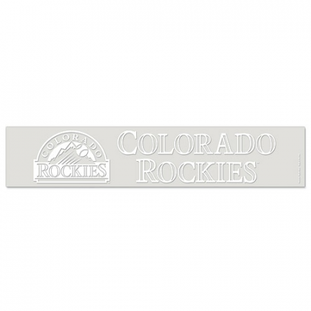 "Colorado Rockies WinCraft 5"" x 25"" Ultra Decal - White"