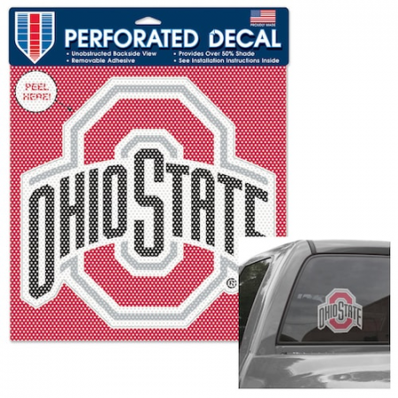 """Ohio State Buckeyes WinCraft 12"""" x 12"""" Perforated Vinyl Decal"""