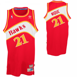 adidas Dominique Wilkins Atlanta Hawks Nique Soul Swingman Nickname Jersey - Red