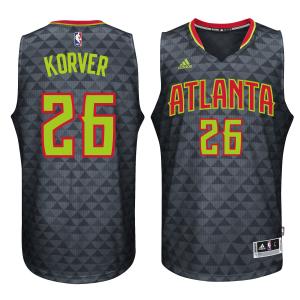 Kyle Korver Atlanta Hawks adidas Road Swingman climacool Jersey - Black