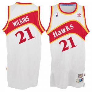 Dominique Wilkins Atlanta Hawks adidas Hardwood Classic Swingman Jersey - White