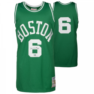 Bill Russell Boston Celtics Fanatics Authentic Autographed Green Mitchell and Ness Jersey