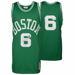 Bill Russell Boston Celtics Fanatics Authentic Autographed Green Mitchell and Ness Jersey with 5x MVP Inscription