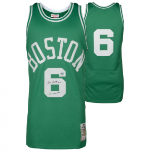 Bill Russell Boston Celtics Fanatics Authentic Autographed Green Mitchell and Ness Jersey with 11x Champ Inscription