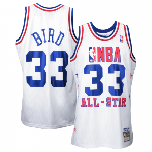 Larry Bird 1990 All Star Game Mitchell & Ness Authentic Basketball Jersey - White